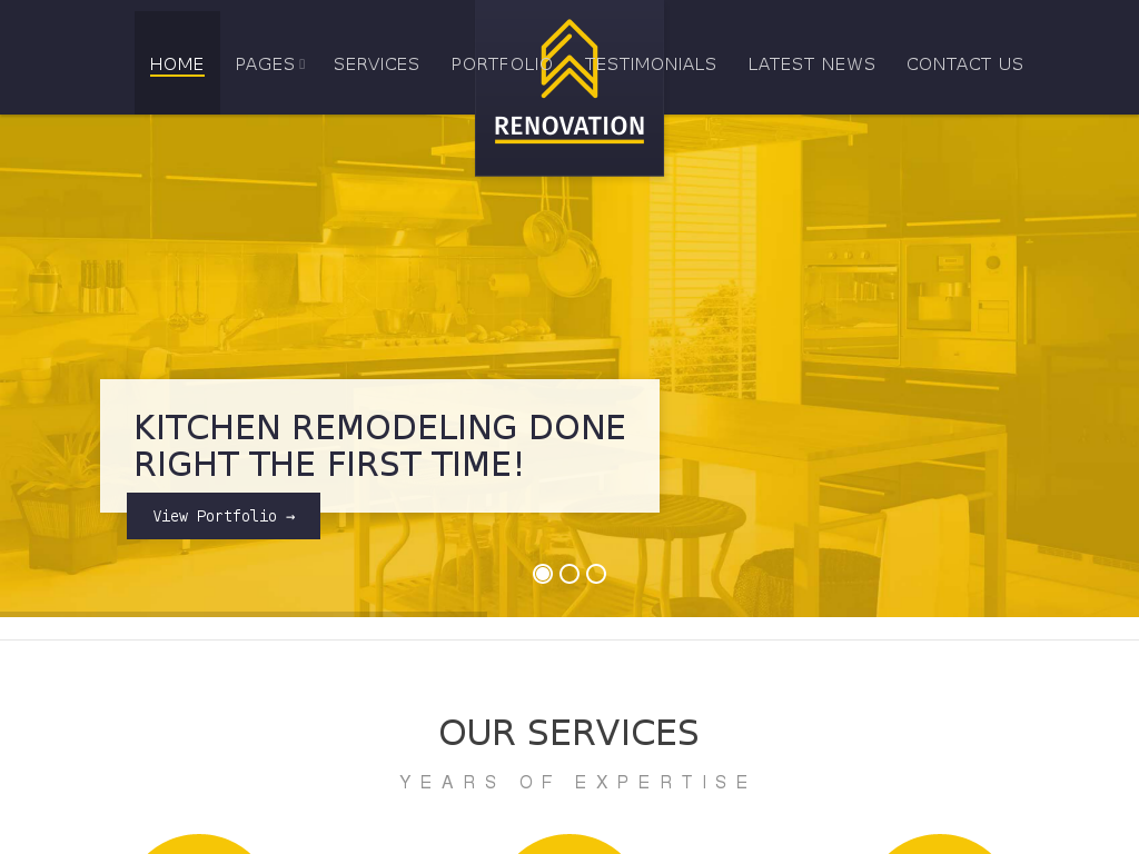 renovation   construction company theme best web design