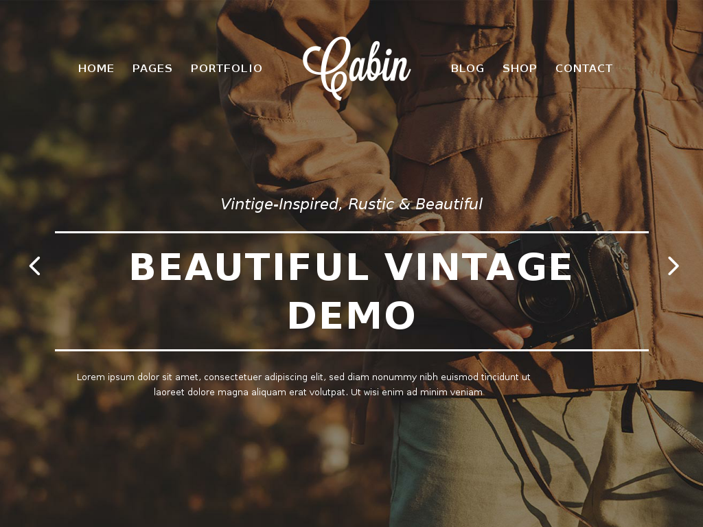 Cabin A Beautiful Vintage Inspired Theme
