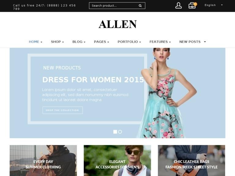 Allen - Multipurpose Responsive WooCommerce Theme