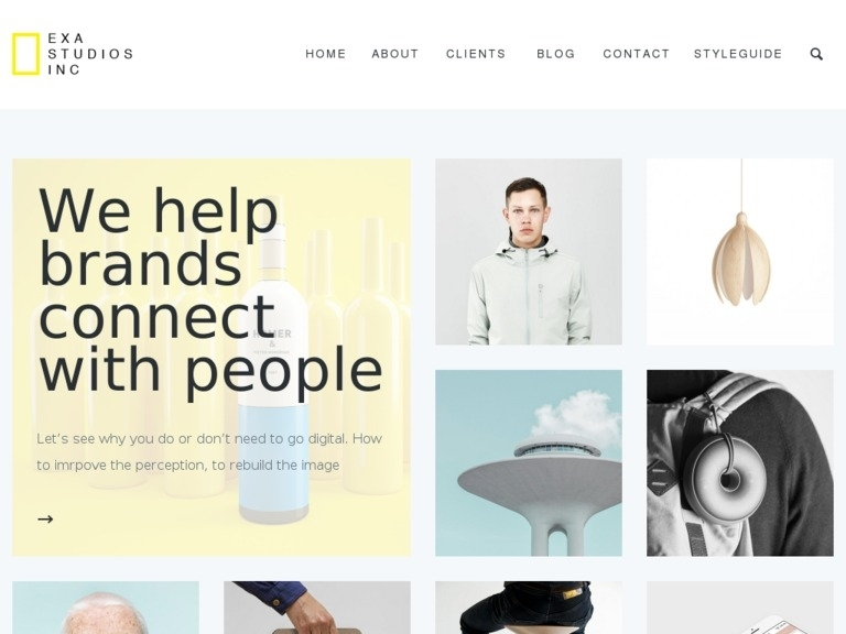 Exa - Fresh & Creative Portfolio Wordpress Theme