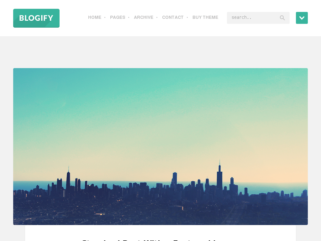 Blogify Flat Blog Theme | Best Web Design Inspiration